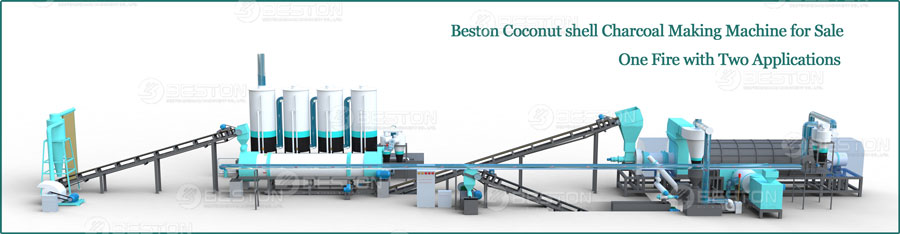 Beston Coconut Shell Charcoal Machine