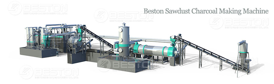 Beston Sawdust Carbonizing Machine for Sale