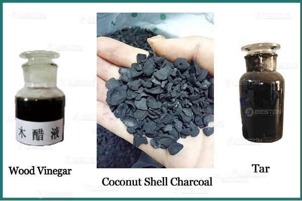 Final Products Got from Coconut Shell Charcoal Machine