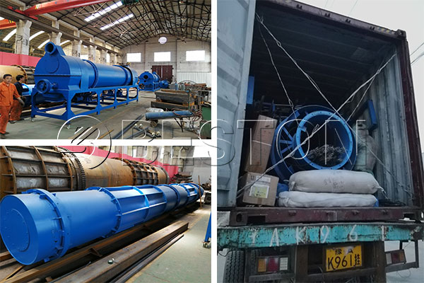 Beston Sawdust Charcoal Making Machine Was Shipped to Uzbekistan