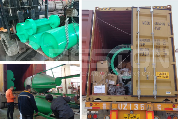 Shipment of Beston Sawdust to Charcoal Machine