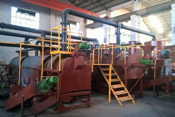 sawdust carbonizing machine