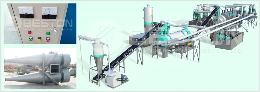 Beston Bamboo Charcoal Making Machine for Sale