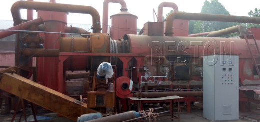 Beston Palm Shell Carbonization Machine