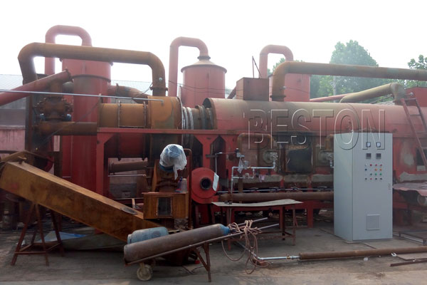 Beston Palm Shell Carbonization Machine
