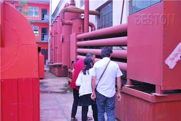 Tunisian Customers Visit Beston Carbonization Plant