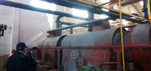 Environmental Horizontal Continuous Wood Charcoal Machine