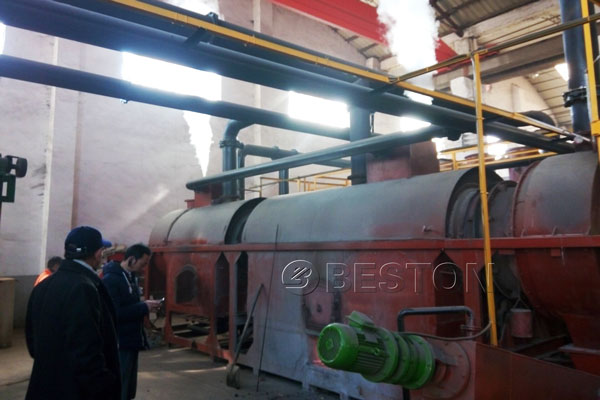 Environmental Horizontal Continuous Wood Charcoal Machine