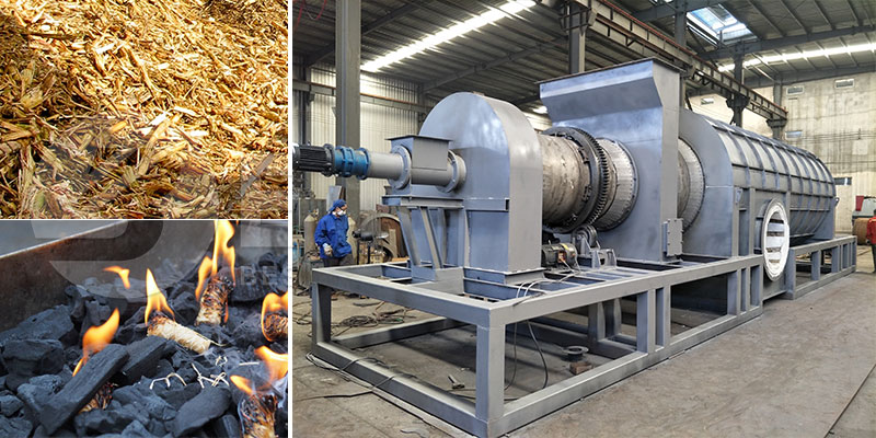 Sugarcane Bagasse Charcoal Making Machine