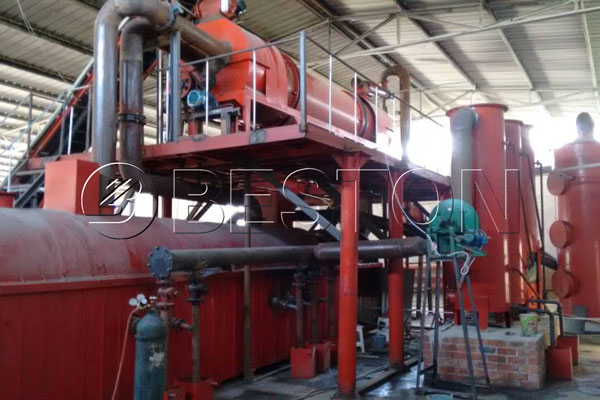making charcoal from bagasse