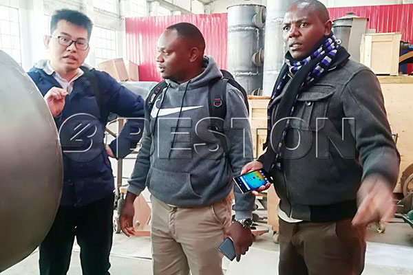 Kenyan Customers to visit Beston Biochar Equipment Workshop