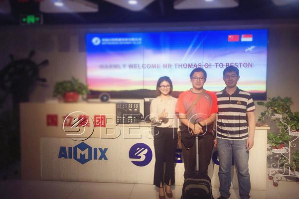 Singapore customer visited Beston headquarter