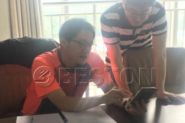 Singapore customer was understanding Beston company
