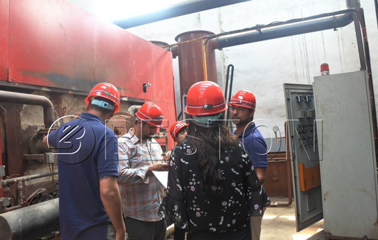 Chile Customer Visited Beston Charcoal Making Equipment in May, 2018