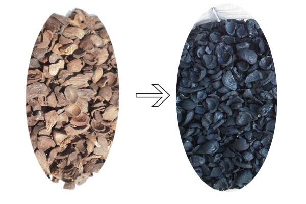 Palm Kernel Shell to Palm Kernel Shell Charcoal