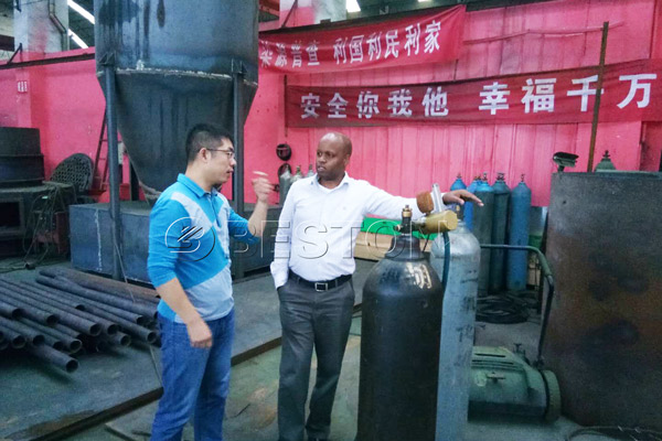 Kenya Customer Saw Beston Charcoal Making Plant