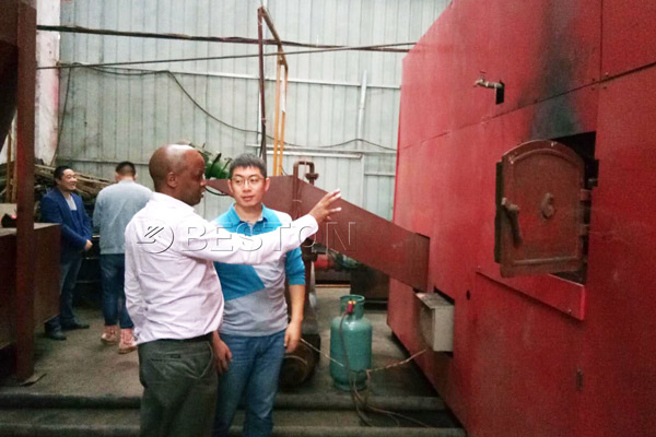 Kenya Customer Visited Beston Biochar Making Plant