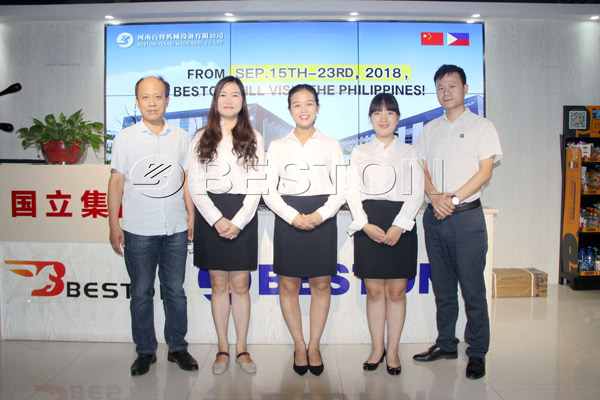 Visit of Beston Machinery to the Philippines in September, 2018