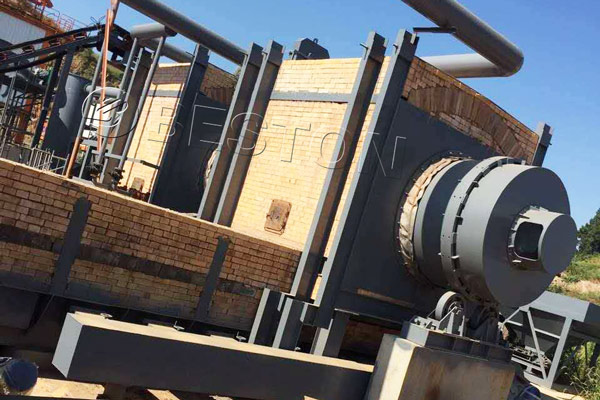 Beston Charcoal Making Machine in South Africa