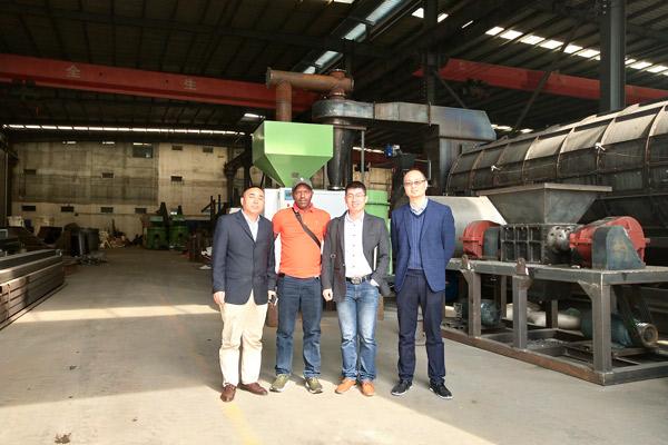 Kenya Customer Visited Beston Manufacturing Plant in October, 2018.