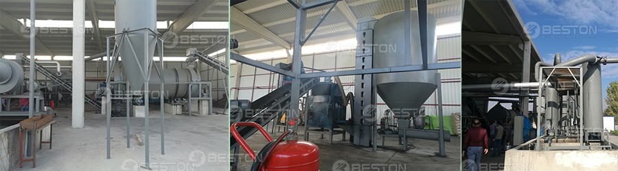 Beston Wood Charcoal Making Machine Installed in Turkey
