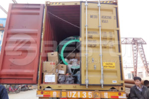 Carbonizing Machine Delivered to Spain