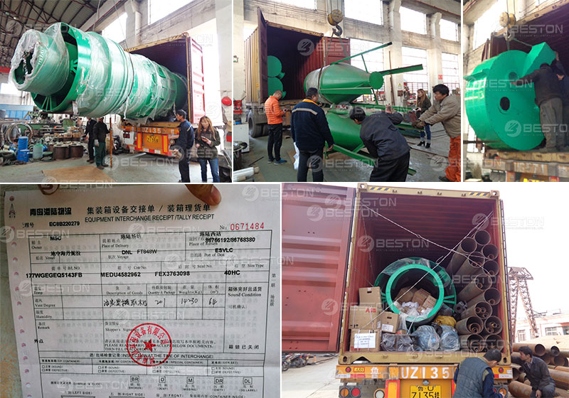 Carbonizing Machine Shipped to Spain