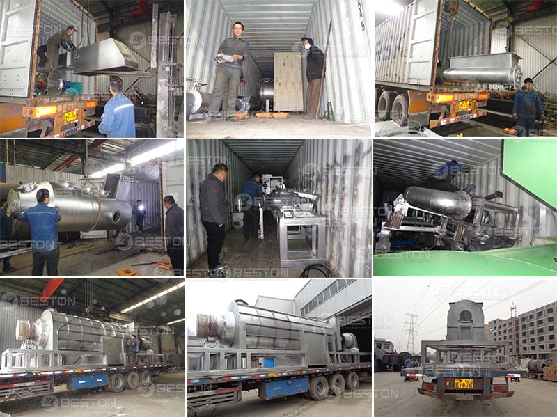 Charcoal Making Machine Shipped to Ghana
